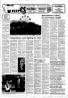 Squamish Times: Tuesday, April 20, 1982
