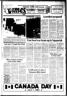 Squamish Times: Tuesday, June 26, 1984