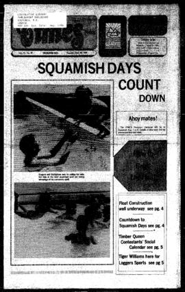 Squamish Times: Tuesday, July 30, 1985