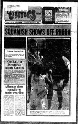 Squamish Times: Tuesday, August 27, 1985