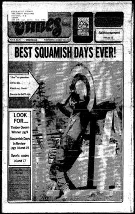 Squamish Times: Wednesday, August 7, 1985
