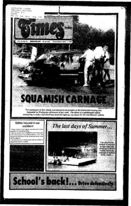 Squamish Times: Wednesday, September 3, 1986