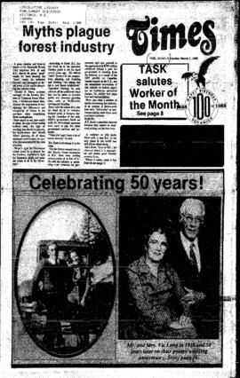 Squamish Times: Tuesday, March 1, 1988