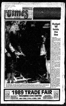 Squamish Times: Tuesday, May 16, 1989