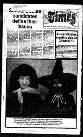 Squamish Times: Tuesday, October 31, 1989