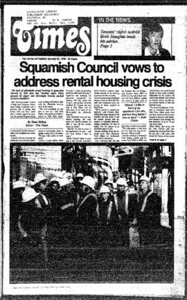 Squamish Times: Tuesday, January 23, 1990