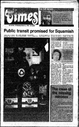 Squamish Times: Tuesday, March 6, 1990