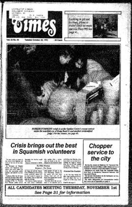 Squamish Times: Tuesday, October 30, 1990