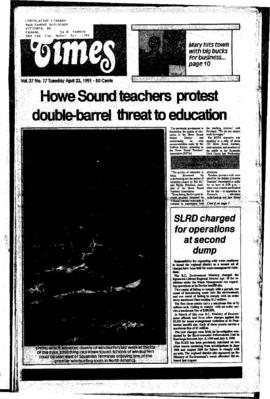 Squamish Times: Tuesday, April 23, 1991