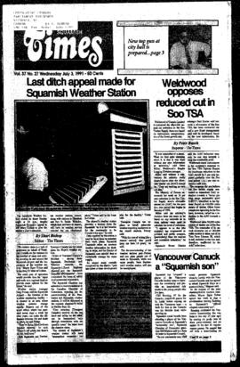 Squamish Times: Wednesday, July 3, 1991