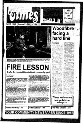 Squamish Times: Tuesday, January 21, 1992
