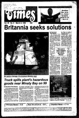 Squamish Times: Tuesday, March 3, 1992