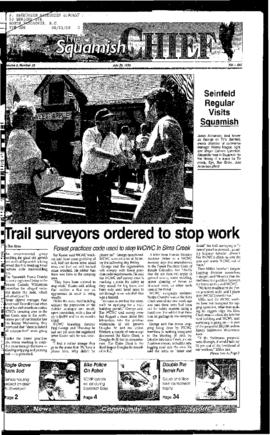 Squamish Chief: Tuesday, July 25, 1995