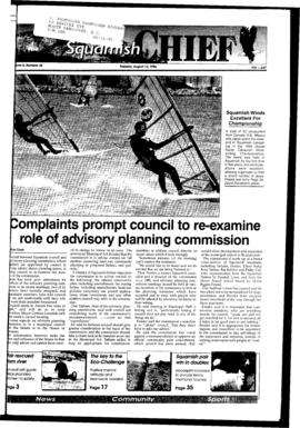 Squamish Chief: Tuesday, August 13, 1996