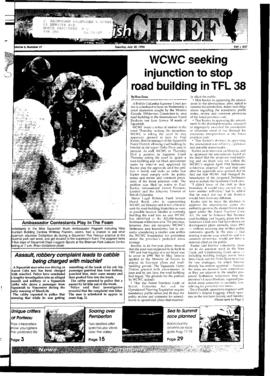 Squamish Chief: Tuesday, July 30, 1996