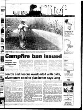 Squamish Chief: Tuesday, August 19, 1997