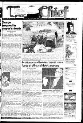 Squamish Chief: Tuesday, September 29, 1998