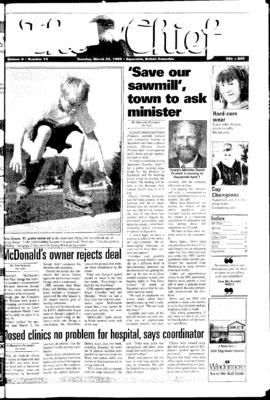 Squamish Chief: Tuesday, March 23, 1999