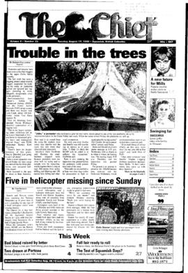 Squamish Chief: Tuesday, August 17, 1999