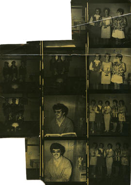 Contact sheet showing ceremony