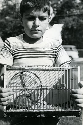 Boy with hamster
