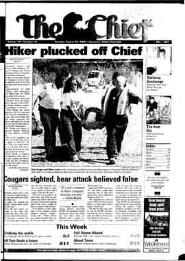 Squamish Chief: Tuesday, August 22, 2000