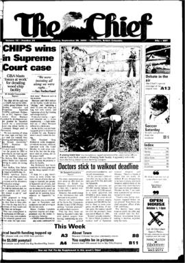 Squamish Chief: Tuesday, September 26, 2000