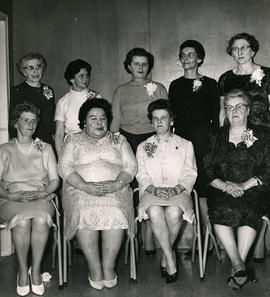 Group of women with corsages