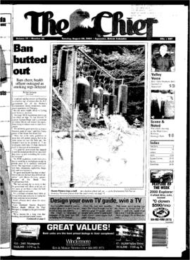 Squamish Chief: Tuesday, August 28, 2001
