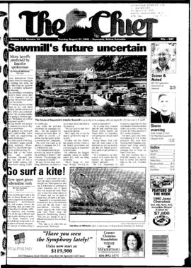 Squamish Chief: Tuesday, August 21, 2001