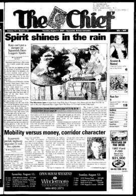 Squamish Chief: Tuesday, August 7, 2001