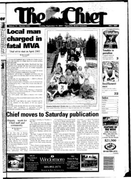 Squamish Chief: Tuesday, September 11, 2001