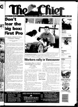 Squamish Chief: Tuesday, September 4, 2001