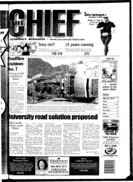 Squamish Chief: Saturday, November 3, 2001