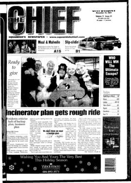 Squamish Chief: Saturday, December 22, 2001