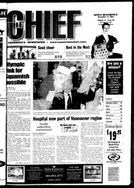 Squamish Chief: Saturday, December 15, 2001