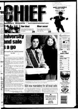 Squamish Chief: Saturday, November 10, 2001
