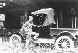 Bob Schoonover with his Model T Ford