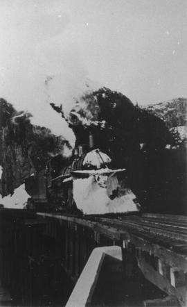 Picture of the snowplow on Engine No. 59