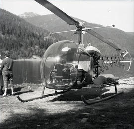Helicopter at Alta Lake