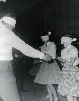 Dancing with blindfolds