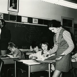 Woman in classroom