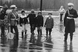 Children at school during flood