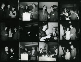 Contact sheet showing presentation and dinner