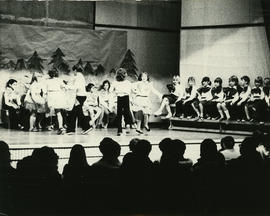 Grade 3 class on stage