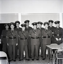 Group of military-looking young men