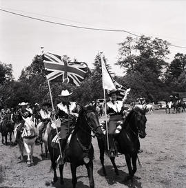 Event with flags and horses