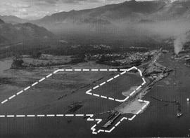 Aerial photo displaying proposed site of pulp and paper mill