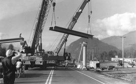 Installing overpass over Highway 99