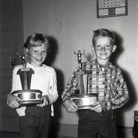 Children with trophies